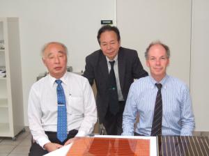 写真(3) Solaronix でMeyer 氏と会談